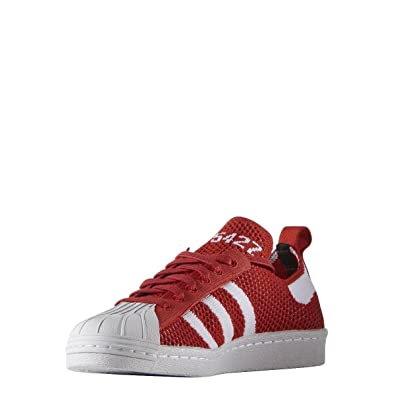 new concept b54fb 04578 adidas Womens Originals Womens Superstar 80s Primeknit Trainers in Red - UK  8
