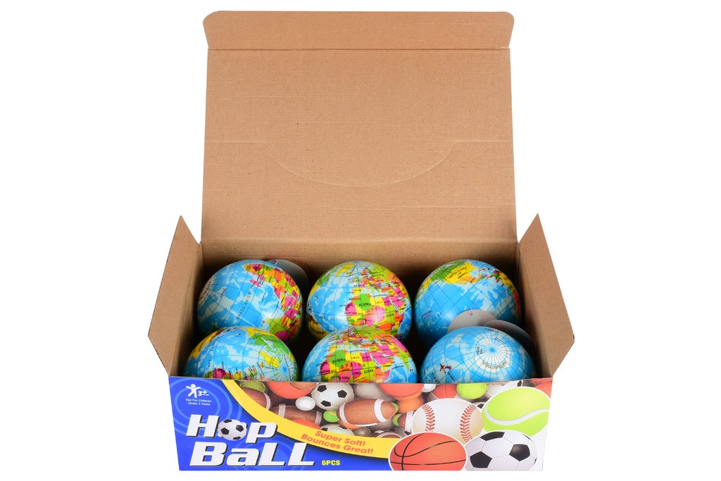 Planet Of Toys Set Of 12 Hop Balls - Globe Design For Kids / Children by Planet of Toys (Image #2)