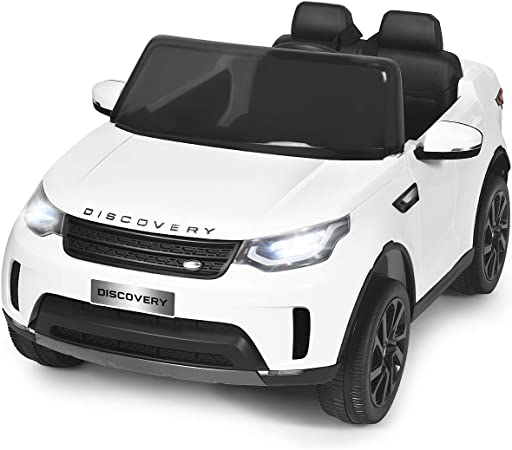 Costzon 2-Seater Ride on Car, 12V Licensed Land Rover Discovery w/ 2.4G Remote Control, LED Lights, MP3 Horn, Music, 2 Doors Open, Spring Suspension, Kids Battery Powered Electric Vehicle Toy (White)