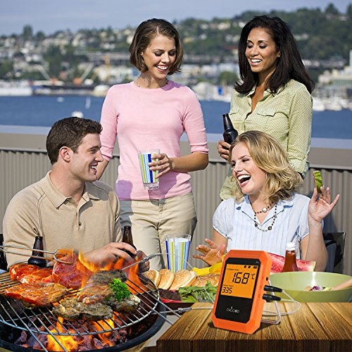BBQ Meat Thermometer, Bluetooth Remote Thermometer, Wireless Digital Cooking Thermometer with 6 Probe Port for Smoker Grilling Oven Kitchen, iPhone & Android Phone Supported By Uvistare by uvistare (Image #6)