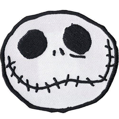 (Nightmare Before Christmas Jack Skellington Disney Iron On Embroidered Patch)