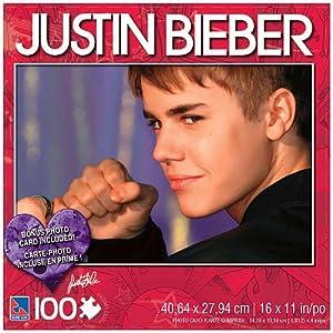 Amazoncom Justin Bieber 100 Piece Jigsaw Puzzle Justin with Fist