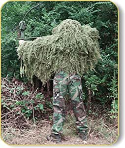 """Paintball """"Tracker"""" Ghillie Suit Poncho - Woodland"""