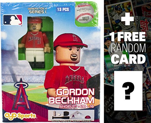 MLB Gordon Becham - LA Angels of Anaheim x OYO Sportstoys Minifigure G4 Series 1 + 1 Free Official Trading Card Bundle [18522] ()