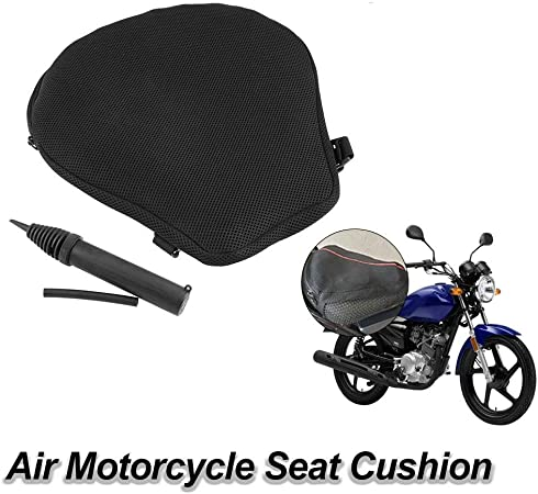 Shakala Luft Motorrad Sitzkissen Luftpolster Motorrad Sitzkissenbezug Luftfüllbares Sitzpolster Luftpolster Universal Für Motorrad Küche Haushalt
