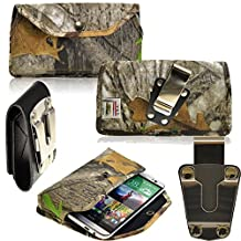 Rugged Heavy Duty Hunter Camo Duty Belt Case Horizontal with Metal Clips fits Motorola Moto X with the Otterbox Defender or Commuter Case on it. Strong Snap shut for extra protection. Great for Police, Contractors, Landscapers and Tough Jobs.