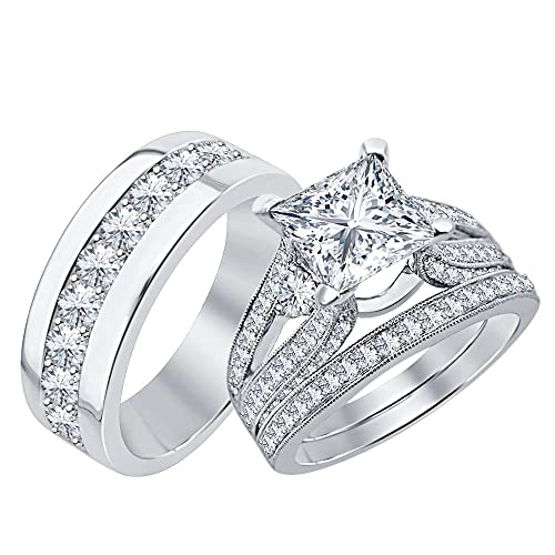 Amazon.com: SVC-JEWELS - Anillo de boda con forma de ...