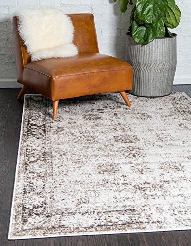 Unique Loom Sofia Collection Traditional Vintage Beige Home Décor Area Rug (5′ x 8′)