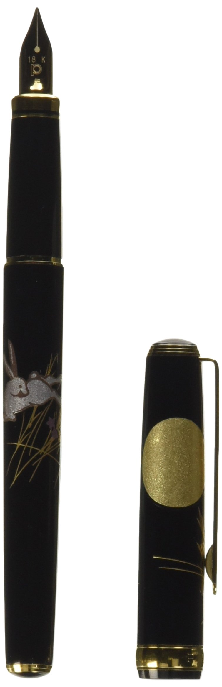 Platinum Makie Fountain Pen Kanazawa Foil Moon and Rabbit Fine Print (F) PTL-15000H#87-2 (Japan Import) by Platinum (Image #1)