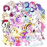 zheyistep 30 Pcs Unicorns Cool Laptop Sticker for IPhone Macbook Car Motorcycle Luggage Water Bottle DIY Bumper Bomb Vinyl Decal Stickers for Guy Skateboarding Accessories