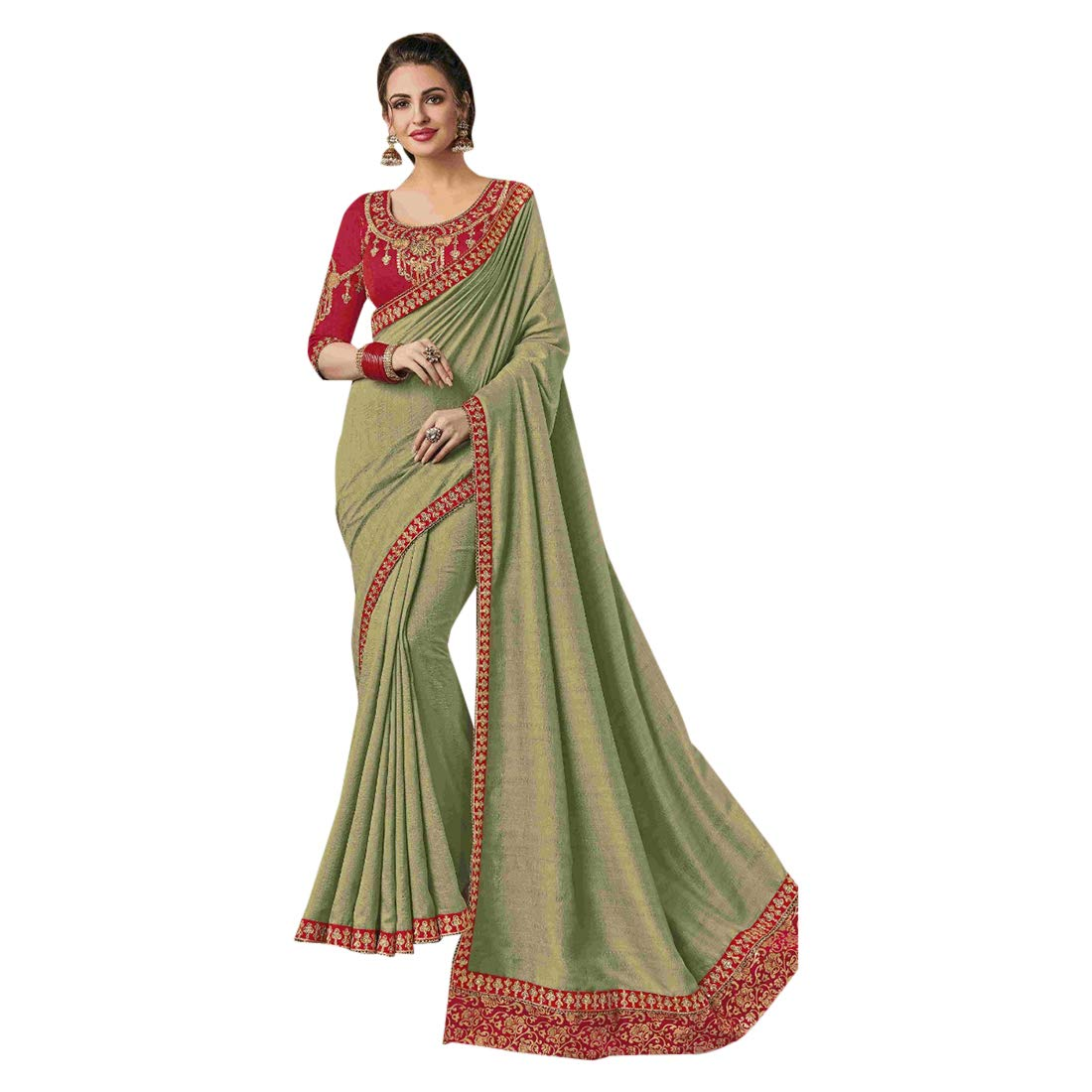 Ethnic Designer Fancy Silk Sari with Blouse piece Indian Saree for Women Party wear 7761