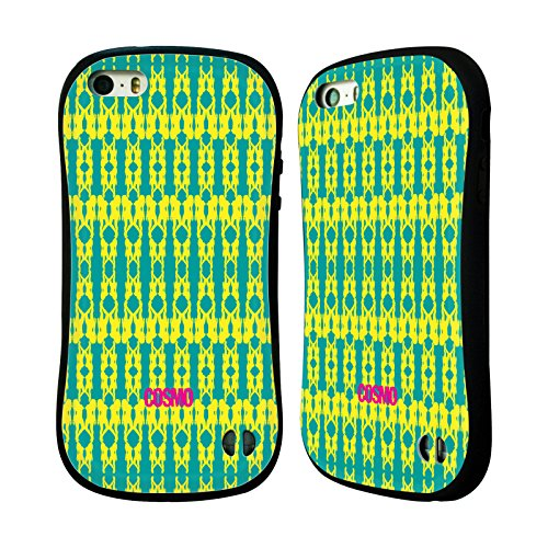 Official Cosmopolitan Yellow Green Boho Patterns Hybrid Case for Apple iPhone 5 / 5s / SE
