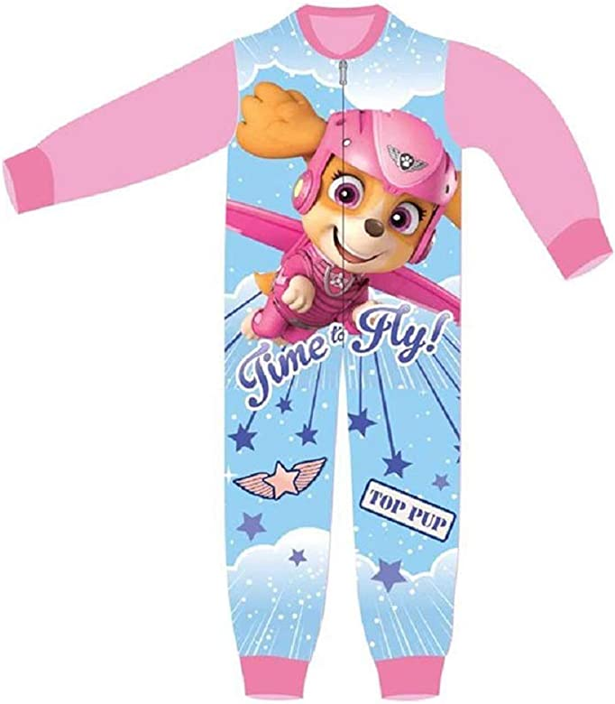 Chase and Marshall Onesie Pyjama for Boys and Girls Children/'s Onesie Characters All in One Children PJ Jumpsuit Skye Paw Patrol Onesie for Kids
