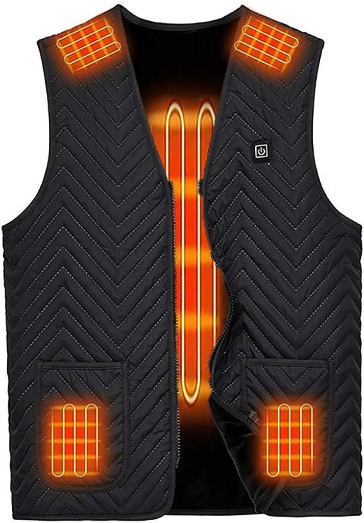 Veste Chauffante Electrique 3 Temp/ératures R/églables et 7 Zones Chauff/ées pour Camping Escalade Activit/és de Plein Air Chaud et Lavable Gilet Chauffant Femme Homme Automne Hiver