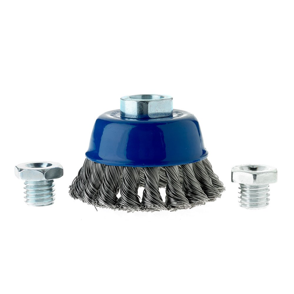 2-3//4 x Carbon Steel For Angle Grinders 5//8-11, M10 x 1.25, M10 x 1.5 Mercer Industries 189010 Knot Cup Brush
