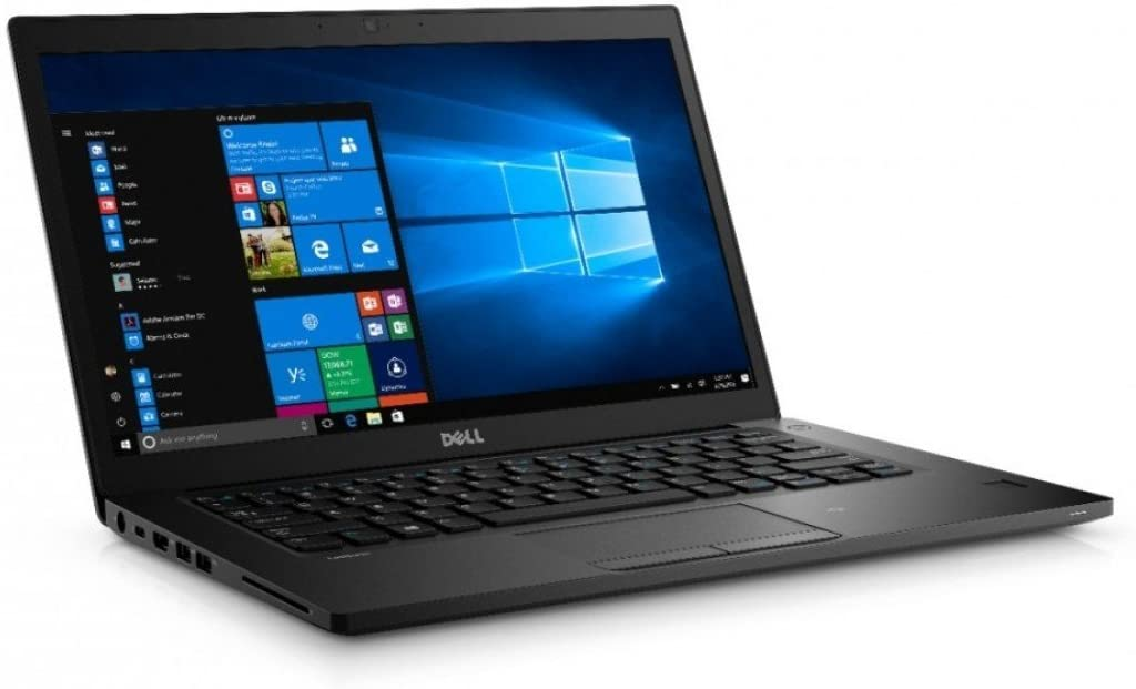 Dell Latitude 7480 14in FHD i5-6300U 16GB 256GB SSD Webcam Backlit Keyboard Black (Renewed)