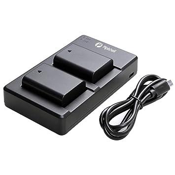 NP-FW50 Paquete de 2 Baterías de Reemplazo y Cargador Rápido Dual - Juego Cargador Cámara Batería para sony Alpha a6000, a5100, a6500, a6400, a6300, ...