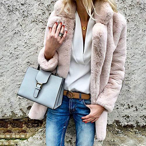 D'automne Femme Vêtements Femme Pink Et Décontractée D'hiver Confortable Veste Lavée Femmes Liuxc Chaude Pour 7qgOE5w