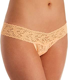 product image for hanky panky Signature Lace Low Rise Thong, One Size, Apricot Crush
