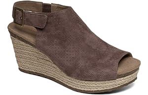 4c01b365002d Aetrex Sherry Womens Leather Espadrille Sandal Wedges