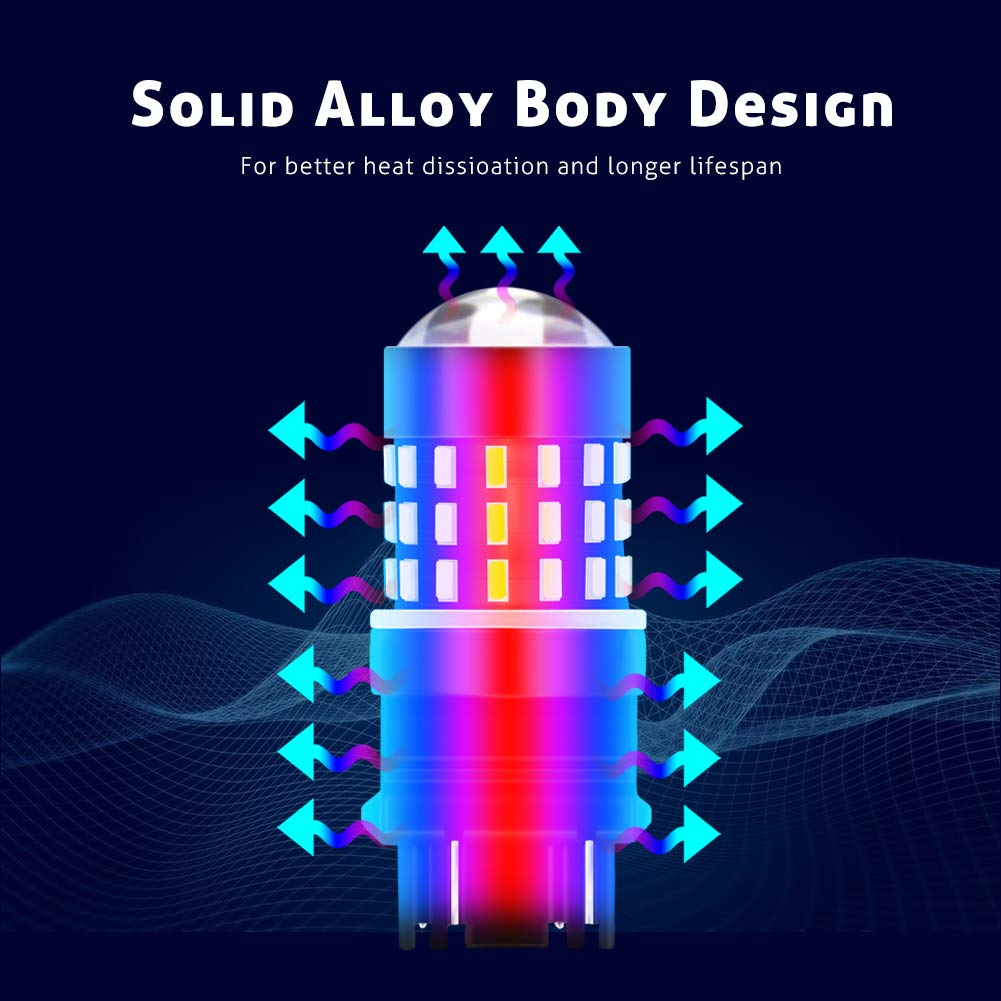 pour remplacement des feux de recul arri/ères clignotants Lot de 2 ampoules LED Tuincyn de 650 lumens tr/ès blanches lat/éraux compatible 7443//7440//T20//7444NA 12 V-24 V DC//CC 3,1 W