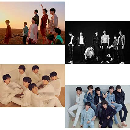 Bighit Bts Love Yourself Tear Your Version 4 Unfolded Official Posters In Tube 234 X 164 Inch