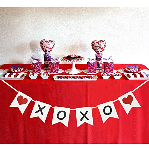 XOXO Banner | Valentine's Day Garland | Valentines Day Decorations | XOXO Sign | XOXO Bunting Garland (Pennant Valentine)