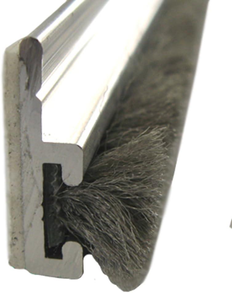 cepillo Junta BAP 10 mm x 200 cm Cepillo de puerta puerta Junta aluminio con tiras adhesivas: Amazon.es: Bricolaje y herramientas