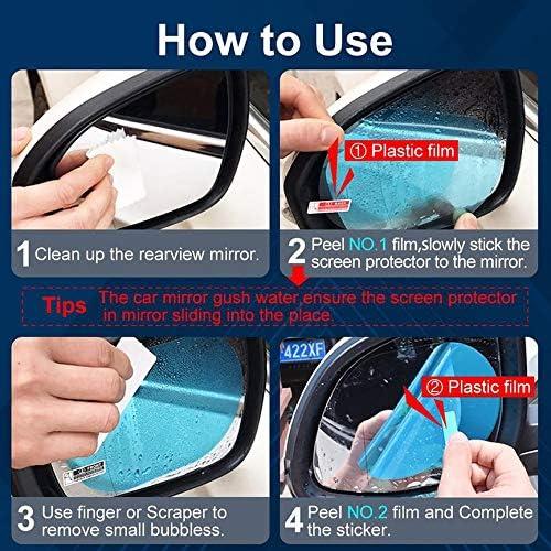 Contican Car Rearview Mirror Rain Film Reversing Mirror Anti-Fog Stick Glass Waterproof Film Universal Side Window Hd Film 135 95