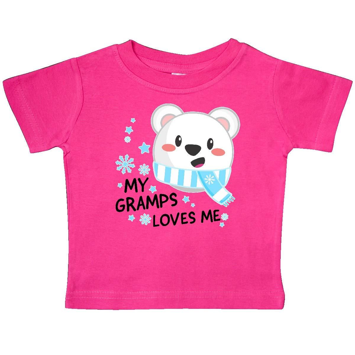Polar Bear Baby T-Shirt inktastic My Gramps Loves Me