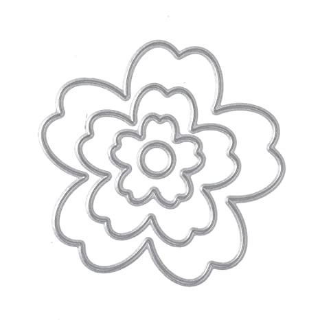 Iodvfs - 4 troqueles de corte de metal para manualidades, molde para hacer flores para