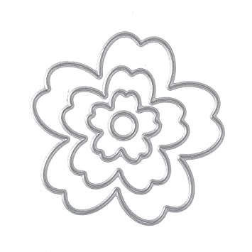 Iodvfs - 4 troqueles de corte de metal para manualidades, molde para hacer flores para tarjetas de papel, acero al carbono, multicolor, Estándar: Amazon.es: ...