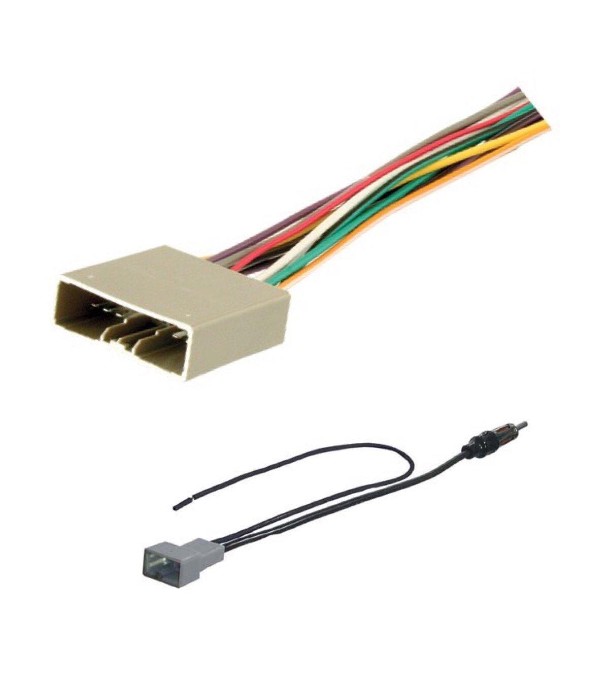 asc audio car stereo radio wire harness and antenna adapter to aftermarket radio for 2006 2011 honda civic (no nav, no dx model), 2007 2011 honda cr v Headlight Harness Adapter