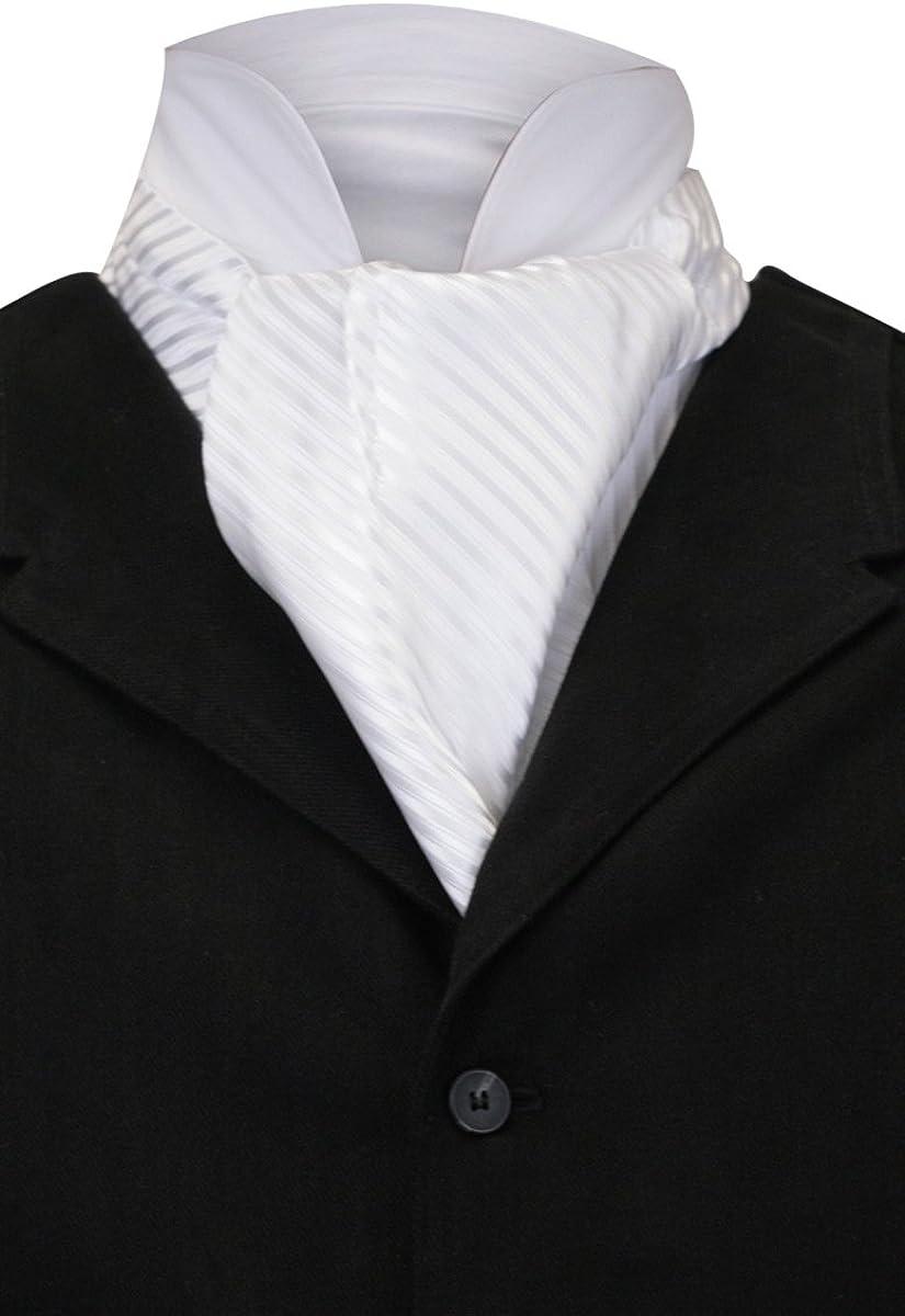 New Vintage Tuxedos, Tailcoats, Morning Suits, Dinner Jackets Historical Emporium Mens Satin Tonal Pinstripe Ascot $28.95 AT vintagedancer.com