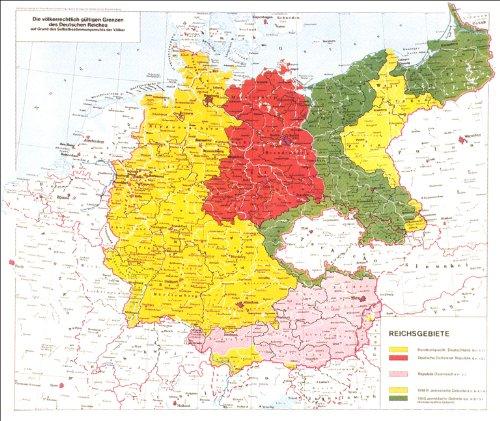 Deutsches Reich Karte.Karte Deutsche Reichsgebiete Die Völkerrechtlich Gültigen Grenzen