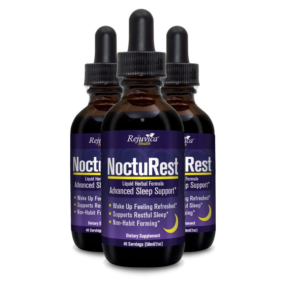 NoctuRest - Fast, Advanced Sleep Supplement   All-Natural Liquid Formula for 2X Absorption   Melatonin, Magnesium, Chamomile & More (Pack of 3)