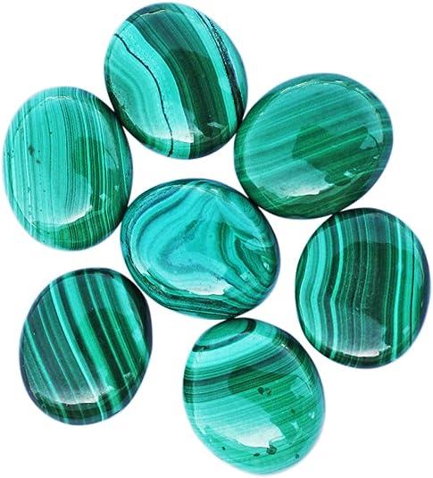 Natural Malachite Gem Cabochon Loose Gemstone Semi Precious Jewelry Making Malachite M2 3Pcs Mix shape Smooth Polished Designer Top AAAA