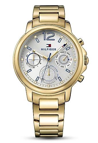 Tommy Hilfiger Femme Multi cadrans Quartz Montres bracelet avec bracelet en Or Plaqué 1781742