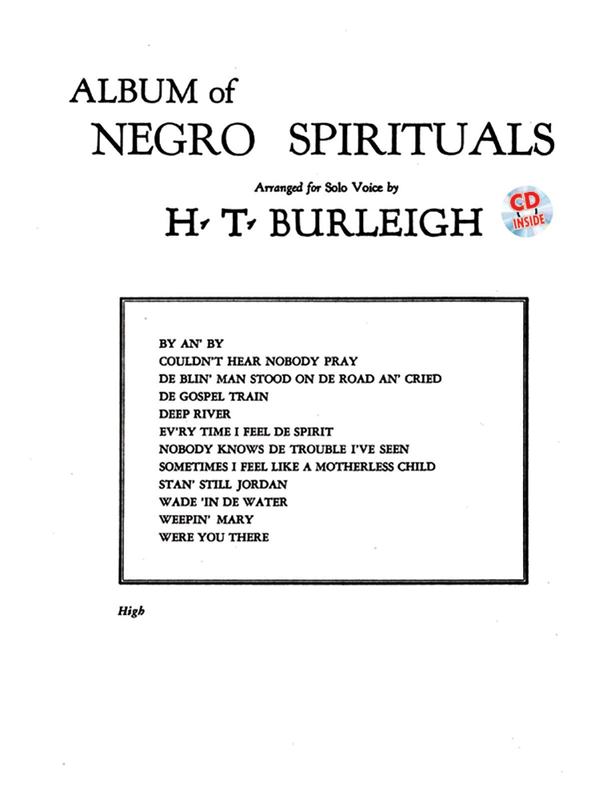 Album of Negro Spirituals: High Voice, Book & CD PDF