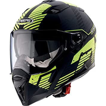 Caberg Stunt Blizzard Full Face casco de motocicleta, color negro/ fluorescente