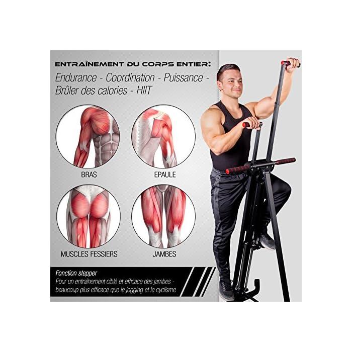 614i2GvZFlL ✅ 𝗠𝗨𝗟𝗧𝗜𝗧𝗔𝗟𝗘𝗡𝗧𝗢 𝟮 𝗘𝗡 𝟭: Nuestra excepcional máquina escaladora VC300 es un dispositivo stepper y escalador vertical para ejercitar piernas, glúteos, abdomen, y músculos de los brazos y también le ayudará a quemar calorías y a la tonificación muscular. Combina las ventajas de dos dispositivos en uno: es más efectivo que montar bicicleta, trotar o correr! Con nuestro dispositivo puede imitar el movimiento natural de escalada. ✅ 𝗣𝗔𝗡𝗧𝗔𝗟𝗟𝗔 𝗠𝗨𝗟𝗧𝗜𝗙𝗨𝗡𝗖𝗜𝗢𝗡𝗔𝗟: Ya sea que lo use como cronometro, contador de calorías o de pasos - con la pantalla nítida de nuestra máquina escaladora, tendrá los resultados de sus ejercicios justo ante sus ojos. Los programas y funciones son rápidos y fáciles de usar. Nuestra máquina escaladora está ajustada de manera ideal para conseguir unos glúteos bien tonificados. Sin embargo, también es perfecta para ejercitar sus brazos y piernas de manera ideal. ✅ 𝗦𝗜𝗦𝗧𝗘𝗠𝗔 𝗜𝗡𝗧𝗘𝗟𝗜𝗚𝗘𝗡𝗧𝗘 𝗗𝗘 𝗣𝗟𝗘𝗚𝗔𝗗𝗢: Este excelente dispositivo deportivo se puede almacenar de manera rápida y fácil. Se pliega con sólo tres sencillos pasos y ahorra mucho espacio.