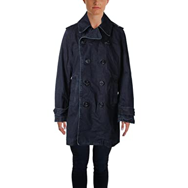 Polo Ralph Lauren Indigo Women\u0027s Large Denim Peacoat Blue L