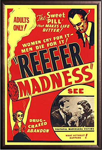 Framed Reefer Madness 1936 Movie Poster in Rust Finish Wood Frame