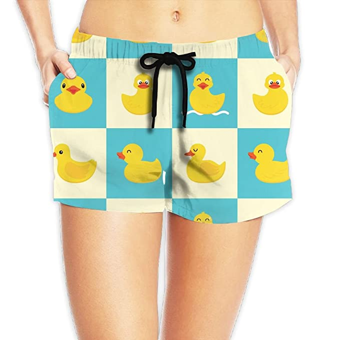 6a05fb7fca Quickly Drying Casual Shorts Funny Rubber Duck Women Swim Trunks Board  Shorts: Amazon.ca: Clothing & Accessories