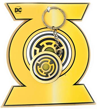 Amazon.com: Sinestro - Llavero con símbolo de farol amarillo ...