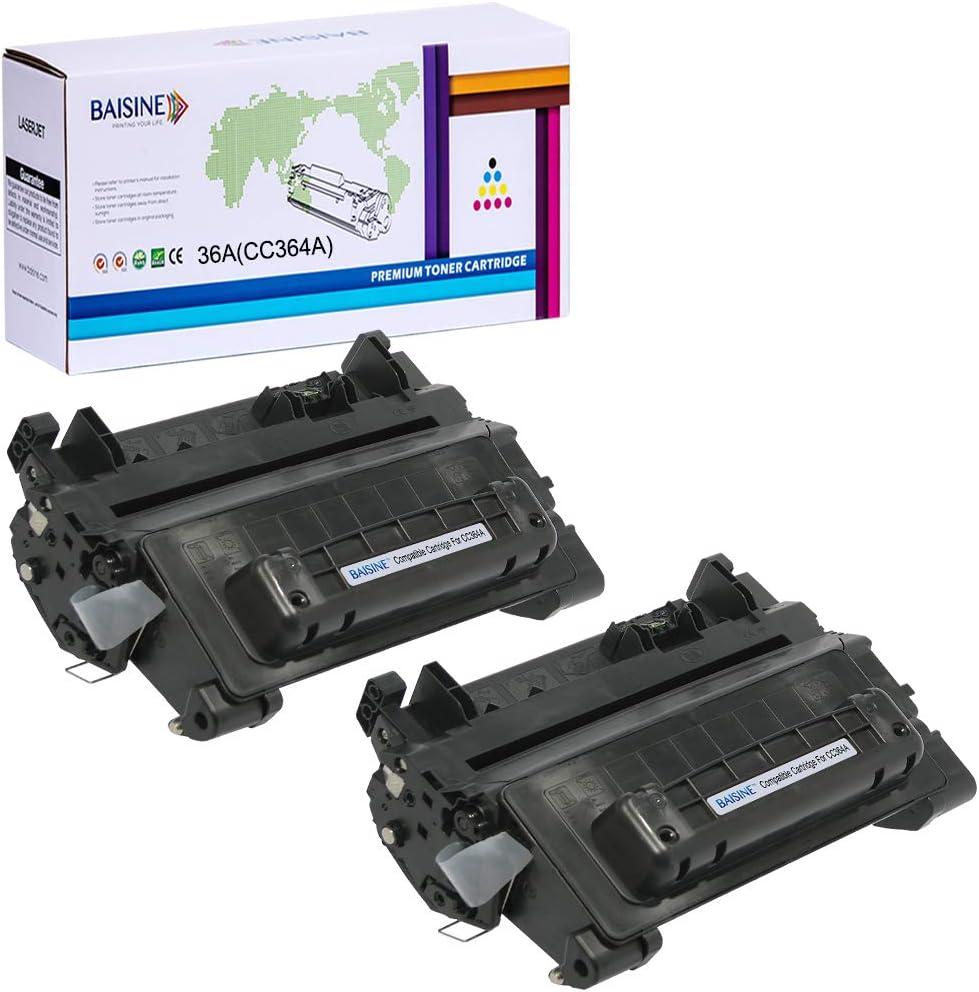 2 Pack CC364A 64A Black Laser Toner Cartridge For HP LaserJet P4014n P4015 P4515