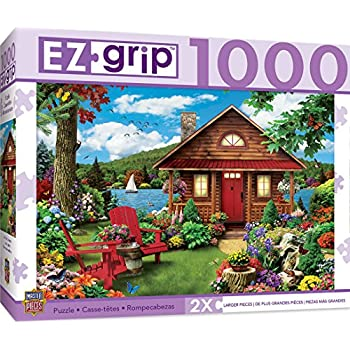 MasterPieces EZ Grip A Perfect Summer - Log Cabin Large 1000 Piece EZ Grip Jigsaw Puzzle by Alan Giana