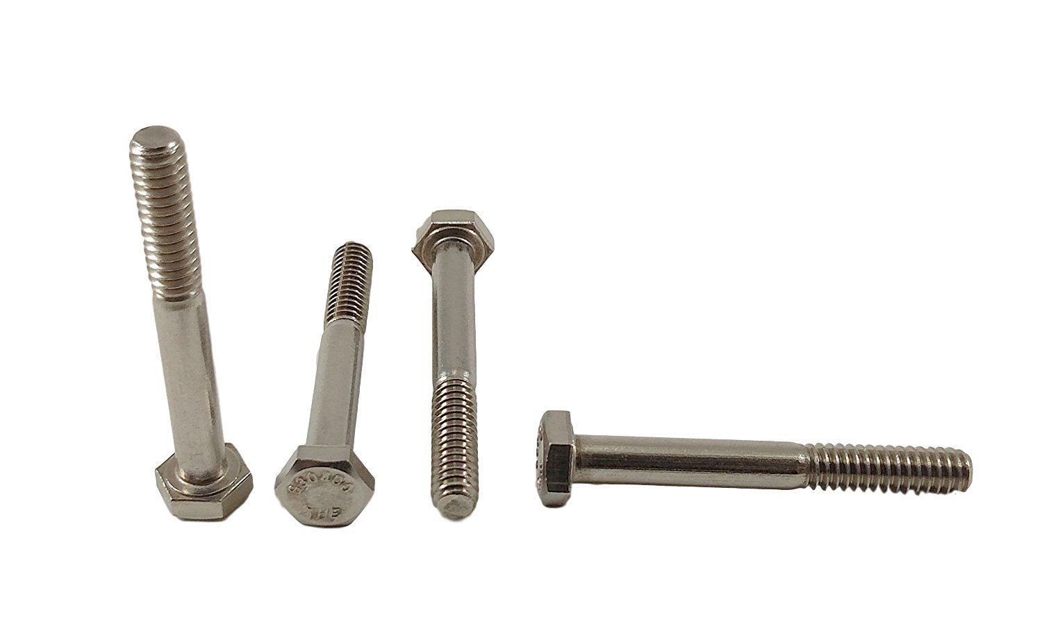 Stainless 1/4-20 x 2 Hex Head Bolts (1/2 To 5'' Length in Listing), 304 Stainless Steel (1/4-20x2(100pcs)) by Chenango Supply Co., Inc. (Image #2)