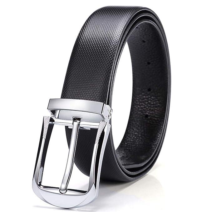 Cinturón Para Hombres, 100% Cuero Genuino de Grano Completo ...