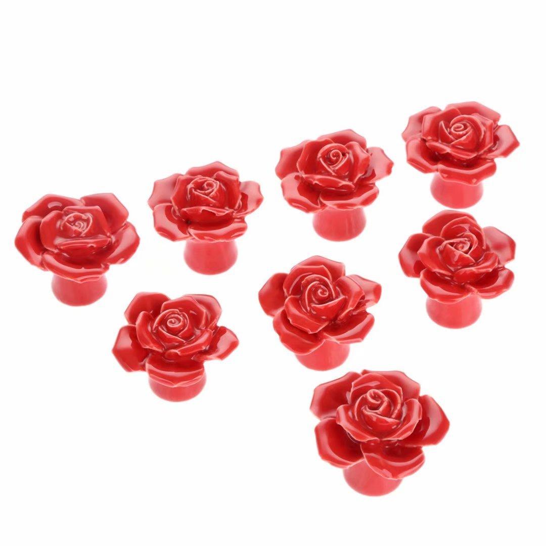 commode TM Fbshop 8/pcs Rouge vintage Fleurs de rose Forme Boutons de porte en c/éramique//Pull//Poign/ée pour meuble de cuisine tiroir placard Coffre armoire vintage et b/éb/é pour enfant pour enfant meubles D/écor